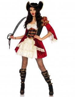 Sexy Musketier-Damenkostüm rot