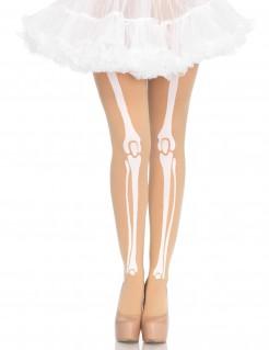 Skelett-Strumpfhosen für Damen Halloween