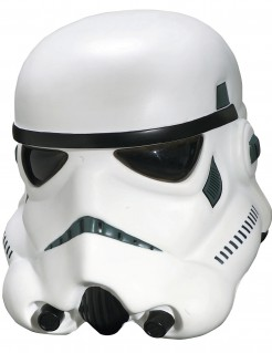Stormtrooper™ Helm für Erwachsene weiss-schwarz