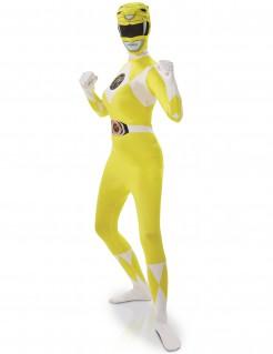 Power Rangers™ Damenkostüm Zweite Haut Ganzkörperanzug gelb-weiss