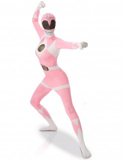 Power Rangers™ Second Skin Damenkostüm rosa-weiss