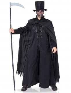 Erbarmungsloser Sensenmann Gevatter Tod Halloween Kostüm für Herren schwarz