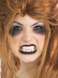 Spitze Vampirzähne Eckzähne zum Anpassen 2 Stück weiss