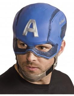 Kostümaccessoire Captain America™ Avengers™ Helm für Erwachsene blau-silber