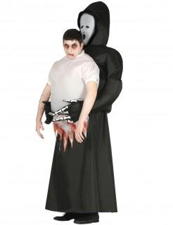 Carry-Me Kostüm Sensenmann Halloween schwarz-weiß