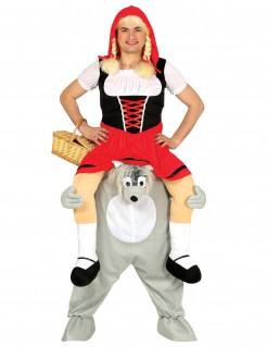 Carry-Me-Kostüm Rotkäppchen und der böse Wolf bunt