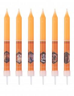 Star Wars™ Partykerzen Kindergeburtstag Lizenzware 8 Stück orange-bunt 10cm