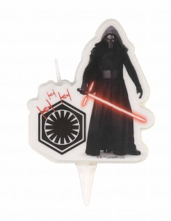 Star Wars VIII™-Kerze Kylo Ren schwarz-weiss-rot 9cm
