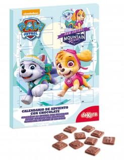 Paw Patrol™ Adventskalender mit Schokolade Lizenzware bunt 25x35cm