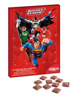 Justice League™-Adventskalender Lizenzartikel rot-bunt 25x35cm 50g