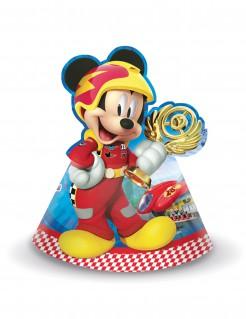 Micky Maus™-Partyhüte Autorennen-Motiv 6 Stück