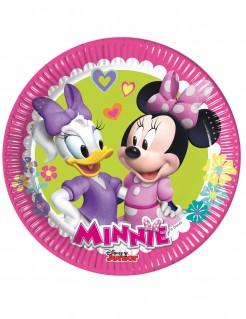 Minnie Maus Teller Minnie und Daisy Disney-Lizenzartikel 8 Stück pink-bunt 19cm