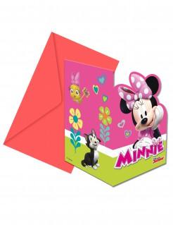 Minnie Maus™-Einladungskarten und Umschläge 6 Stück