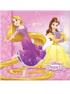 Disney™ Prinzessinnen Servietten Disney™-Tischdeko 20 Stück rosa-gelb-weiss 33x33cm
