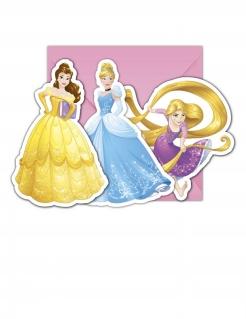 Disneys Prinzessinnen - Einladungskarten und Umschläge 6 Stk.