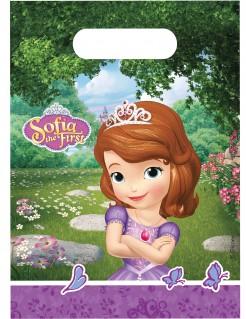 Prinzessin Sofia und das Einhorn™ Geschenktüten Kindergeburtstagtüten 6 Stück grün-lila 23x16cm