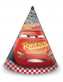 Cars 3™ Partyhüte für Kindergeburtstage Disney™ Lizenzartikel 6 Stück bunt 16cm