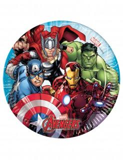 Avengers™-Partyteller Lizenzartikel 8 Stück 20cm