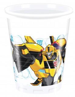 Trinkbecher aus Kunststoff Transformers RID 8 Stück weiß