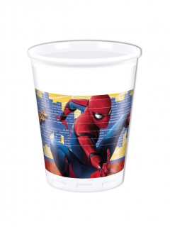 Spiderman Homecoming™ Partybecher Lizenzware 8 Stück bunt 200ml