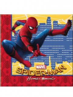 Spiderman Homecoming™ Partyservietten Lizenzware 20 Stück bunt 33x33cm