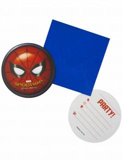 Spiderman Homecoming™ Einladungskarten Lizenzware 6 Stück bunt