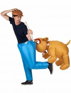 Bissiger Hund Originelles Karnevalskostüm blau-braun