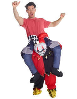 Horror-Clown Carry-me-Halloweenkostüm für Herren bunt