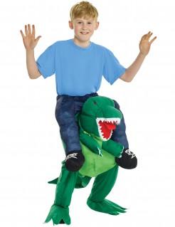 T. Rex Dinosaurier-Reiter Carry-Me Kinderkostüm bunt