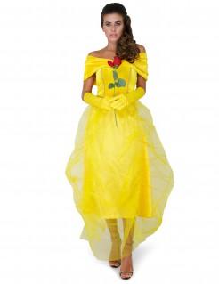 Bezaubernde Märchenprinzessin Damenkostüm gelb