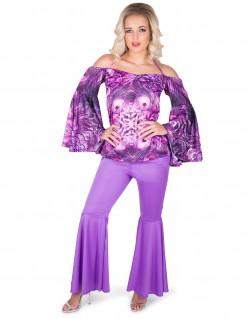 Damenkostüm Disco violett