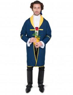 Herrenkostüm Verwunschener Prinz blau-gelb
