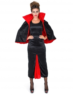 Damenkostüm Dunkle Gräfin Vampirin schwarz-rot