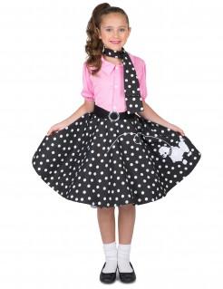 50er Jahre Rockabilly Kinderkostüm rosa-schwarz