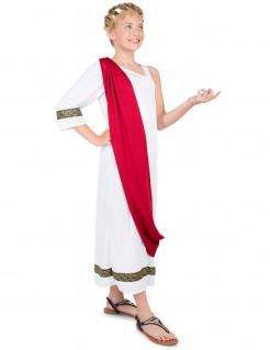 Römer-Kinderkostüm Tunika weiss-rot-gold
