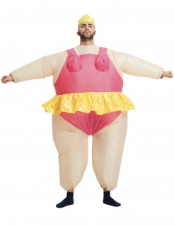 Dicke Ballerina Herrenballett-Kostüm JGA-Kostüm