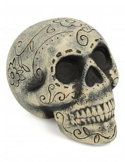 Tag der Toten Schädel Dekoration beige-schwarz