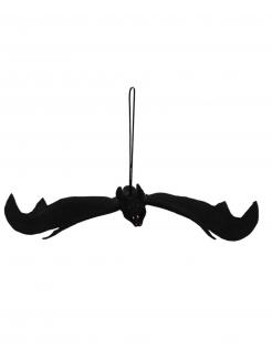 Halloweendekoration Fledermaus schwarz 54 x 26 cm