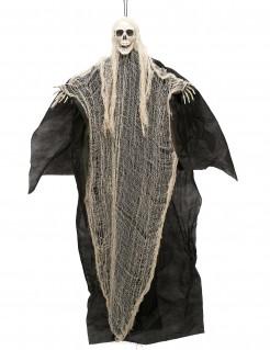 Sensenmann Halloween Hängedekoration schwarz-weiss-beige 110cm