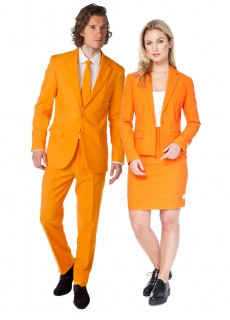 Opposuits™ Einfarbige Paaranzüge lang orange