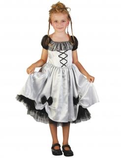 Gothicbraut-Mädchenkostüm weiss-schwarz