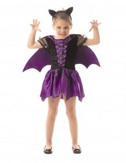 Fledermaus-Mädchenkostüm violett