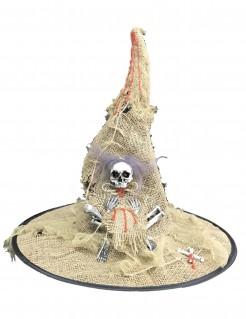 Halloween Hexenhut mit Licht für Erwachsene