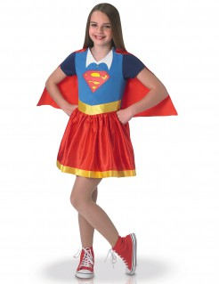 Supergirl™-Kinderkostüm Superhero Girls™-Lizenzkostüm blau-rot-gold