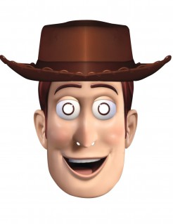 Woody™-Cowboymaske Toy Story™-Lizenzmaske beige-braun