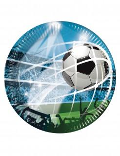 Fussball-Pappteller 8 Stück bunt 23cm