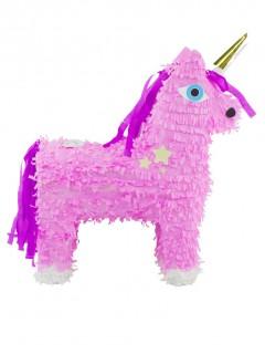 Einhorn Pinata für Kindergeburtstag rosa-pink 46 x 14cm