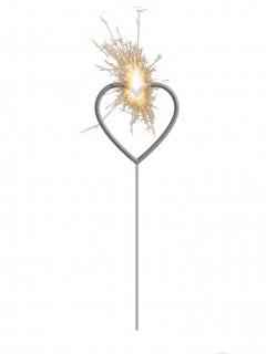 Wunderkerze Herz Partydeko bunt 16 cm