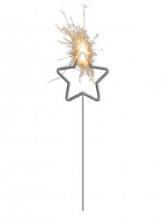 Wunderkerze Stern grau
