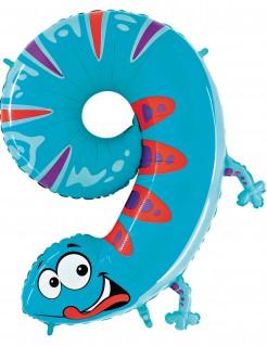 Riesen Ballon Ziffer 9 blau